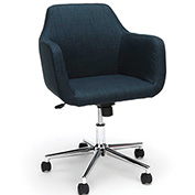 Essentials by OFM ESS-2085 Upholstered Home Office Desk Chair, Blue