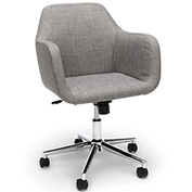 Essentials by OFM ESS-2085 Upholstered Home Office Desk Chair, Grey