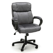 OFM Plush Microfiber Office Chair - Mid-Back - Gray - Essentials Series