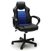 OFM Racing Style Leather Gaming Chair - Blue - Essentials Series