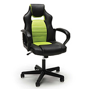 OFM Racing Style Leather Gaming Chair - Green - Essentials Series