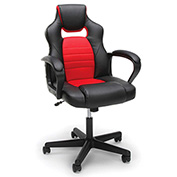 OFM Racing Style Leather Gaming Chair - Red - Essentials Series