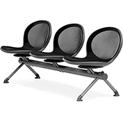 NET Series Beam with 3 Seats - Black