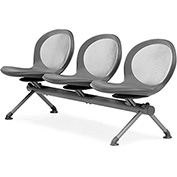 NET Series Beam with 3 Seats - Gray