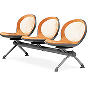 NET Series Beam with 3 Seats - Orange