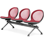 NET Series Beam with 3 Seats - Red