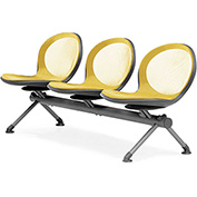 NET Series Beam with 3 Seats - Yellow