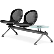 NET Series Beam with 2 Seats and 1 Table - Black