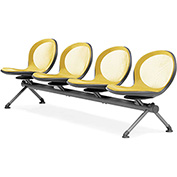 OFM Beam Seating with 4 Seats - Yellow - NET Series