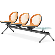 NET Series Beam with 3 Seats and 1 Table - Orange