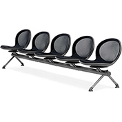 OFM Beam Seating with 5 Seats - Black - NET Series