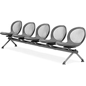 OFM Beam Seating with 5 Seats - Gray - NET Series