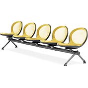 OFM Beam Seating with 5 Seats - Yellow - NET Series