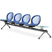 OFM Beam Seating with 4 Seats and 1 Table - Marine - NET Series