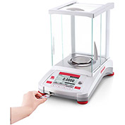 "Ohaus AX124 Analytical Balance With Auto Calibration 120g x 0.0001g 3-1/2"" Diameter"