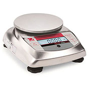 "Ohaus V31XH202 AM Compact Bench/Food Digital Scale 200g x 0.01g 5-13/16"" x 6-3/16"" Platform"