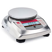 "Ohaus V31XH402 AM Compact Bench Food Digital Scale 400g x 0.01g 4-11 16"" Diameter Platform"