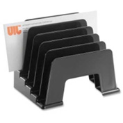 Officemate Incline Sorter with 5 Compartments Black