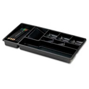 Officemate Desk Drawer Organizer Tray with 9 Compartments 15 Black