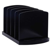 Officemate Standard Sorter with 4 Compartments Black