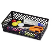 Officemate Large Stackable Supply Basket Black - Pkg Qty 2