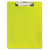 "Officemate® Clipboard with Ruler 8-1/2"" x 11"" Neon Yellow"