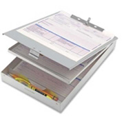 "Officemate® Double Storage Form Holder 12"" x 8-1/2"" Aluminum"