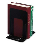 "Officemate®Non-Skid Bookends 9-5/16"" High Black 2 Pack"