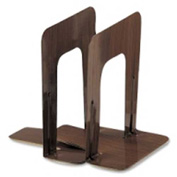 "Officemate®Non-Skid Bookends 8-1/4"" High Woodgrain 2 Pack"