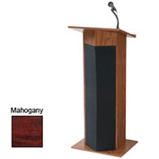 Power Plus Podium / Lectern with Sound - Mahogany