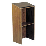 Full Floor Lectern / Podium - Medium Oak