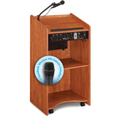 Oklahoma Sound Aristocrat Sound Podium / Lectern with Handheld Wireless Mic, Cherry