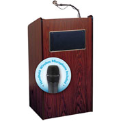 Oklahoma Sound Aristocrat Sound Podium / Lectern with Handheld Wireless Mic, Mahogany