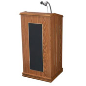 The Prestige Podium / Lectern with Sound - Medium Oak