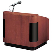Veneer Sound Table Top Contemporary Podium / Lectern - Mahogany