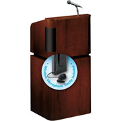 Oklahoma Sound Tabletop-Base Combo Podium / Lectern w / Wireless Tieclip / Lavalier Mic, Mahogany