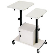 Presentation Cart with Locked Cabinet