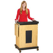 Smart Cart Podium / Lectern with Sound - Light Oak