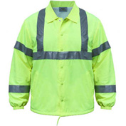 Utility Pro™ Hi-Vis Nylon Windbreaker, ANSI Class 2, XL, Lime