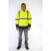 Utility Pro™ High-Visibility Rain Jacket, ANSI Class 3, L, Yellow/Black