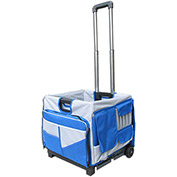 Olympia Tools Pack-N-Roll® Folding Cart 85-506 - 48 Pockets - 50 Lb. Capacity - Blue