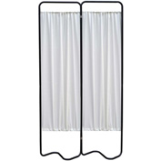 Omnimed® Privacy Screen, Beamatic™ Screen Frame, 2 Sections, Black