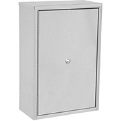 "Omnimed® Stainless Maxi Narcotic Cabinet Double Door, Ambi-Top, 4 Adj. Shelves, 22""Wx12""Dx30""H"