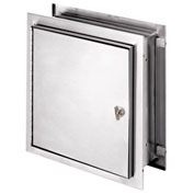 "Omnimed® Stainless Steel Pass-Thru Lockable Cabinet, 12""H x 11-1/2""W x 6""D, Thumb Latch"