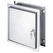"Omnimed® Stainless Steel Pass-Thru Cabinet, Extra Deep, 12""H x 11-1/2""W x 8-1/4""D, Key Lock"