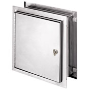 "Omnimed® Stainless Steel Pass-Thru Cabinet, Extra Deep, 12""H x 11-1/2""W x 8-1/4""D, Thumb Latch"