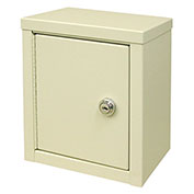 "Omnimed® Economy Mini Narcotic Cabinet, Single Door, Ambi-Top, 8""W x 5-5/8""D x 9""H, Beige"