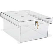 Omnimed® 183010D X-Large Acrylic Refrigerator Lock Box, Keyed Differently, Clear