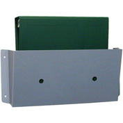 "Omnimed® Medium Wall Pocket, 14""W x 7""H, Aluminum"
