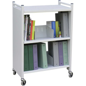 "Omnimed® Carrier Cart Medical Chart Rack, 26""W x 14""D x 37-1/4""H, Light Gray"